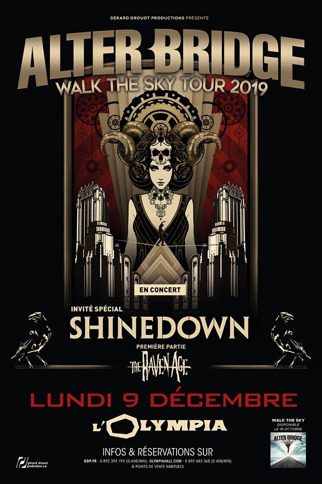 Alter bridge olympia 2019 9 décembre